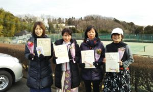 第1517回 百草テニスガーデン チーム戦準優勝:坂口・澤田・冨山・浅間チーム