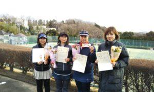 第1517回 百草テニスガーデン チーム戦優勝:山本・河原・志田・村田チーム