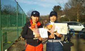 第1518回 桜田倶楽部 女子ダブルス準優勝:原田・関谷ペア