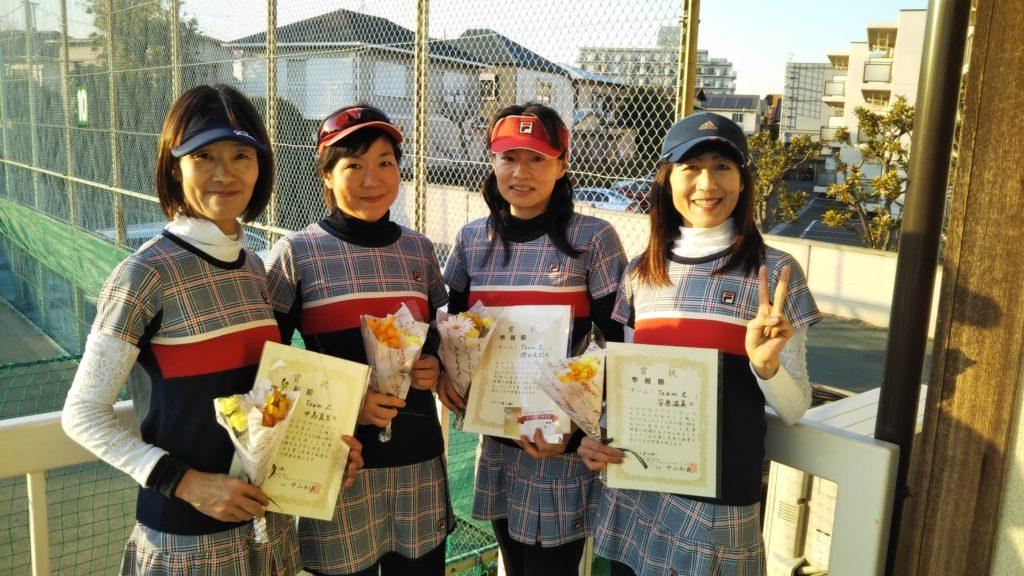 準優勝:中島・別所・櫻田・安原チーム