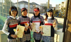 第1519回 関町ローンテニスクラブ 女子チーム戦準優勝:中島・別所・櫻田・安原チーム