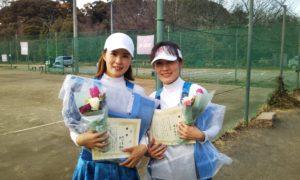 第1520回 桜田倶楽部 女子ダブルス優勝:増汐・張ペア