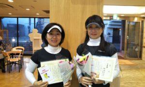 第1521回 緑ヶ丘テニスガーデン 女子ダブルス準優勝:平山・柴崎ペア