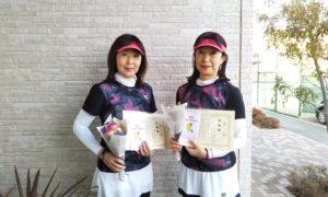 第1522回 東京グリーンテニスクラブ 女子ダブルス準優勝:関口・石坂ペア