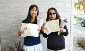 第1522回 東京グリーンテニスクラブ 女子ダブルス優勝:小山・寺島ペア