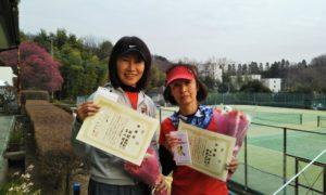 第1523回 百草テニスガーデン 女子ダブルス準優勝:新関・古山ペア