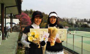 第1523回 百草テニスガーデン 女子ダブルス優勝:小田・秋元ペア