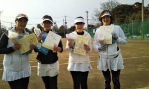 第1524回 桜田倶楽部 女子チーム戦準優勝:谷口・明楽・伊藤・小泉チーム