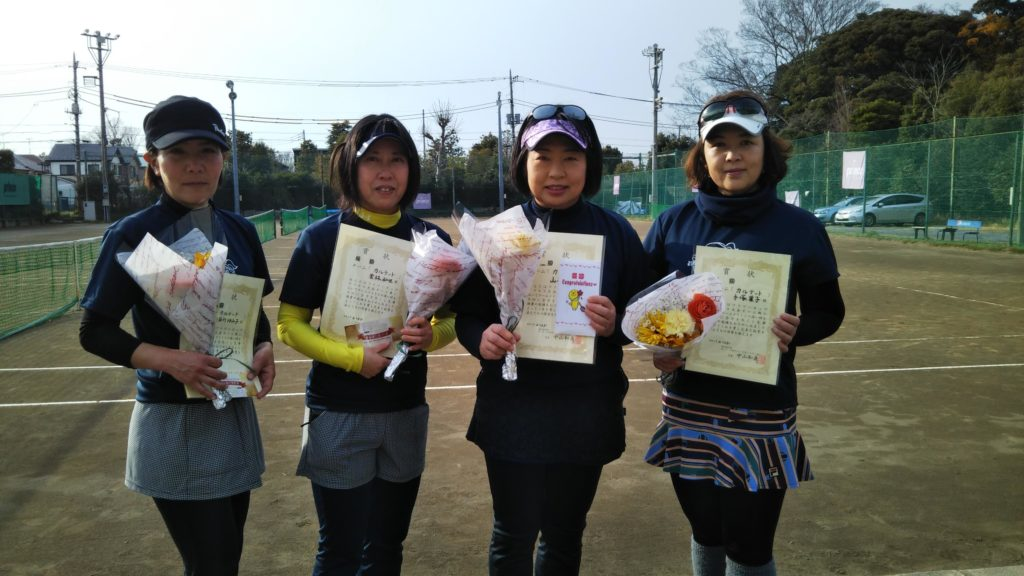 優勝:長谷川・栗林・山本・手塚チーム