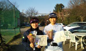 第1532回 桜田倶楽部 女子ダブルス準優勝:古田・高橋ペア