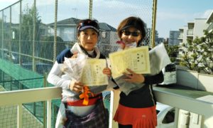 第1533回 関町ローンテニスクラブ 女子ダブルス準優勝:大岡・伊武ペア
