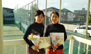 第1534回 関町ローンテニスクラブ 女子ダブルス準優勝:西村・高野ペア
