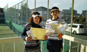 第1534回 関町ローンテニスクラブ 女子ダブルス優勝:手塚・原田ペア