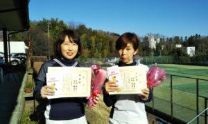 第1535回 百草テニスガーデン 女子ダブルス準優勝:生駒・平本ペア