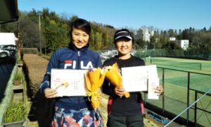 第1535回 百草テニスガーデン 女子ダブルス優勝:藤本・宝田ペア