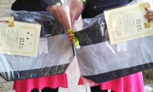 第1536回 東京グリーンテニスクラブ 女子ダブルス優勝:尾崎・福島ペア