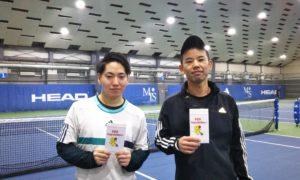 第241回 MTSテニスアリーナ三鷹 ナイター男子ダブルス準優勝:有馬・堀内ペア