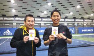 第241回 MTSテニスアリーナ三鷹 ナイター男子ダブルス優勝:高見・杉田ペア