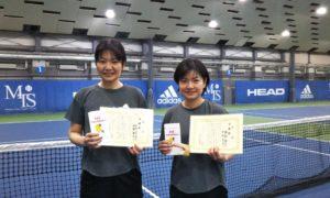 第243回 MTSテニスアリーナ三鷹 ナイター女子ダブルス準優勝:中村・掃部ペア