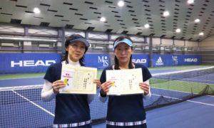 第243回 MTSテニスアリーナ三鷹 ナイター女子ダブルス優勝:高梨・古瀬ペア