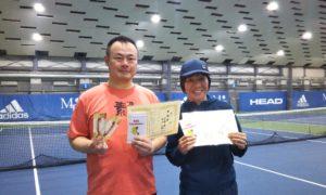 第244回 MTSテニスアリーナ三鷹 ナイターミックスダブルス準優勝:戸田・古山ペア