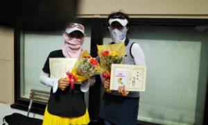 第1559回 緑ヶ丘テニスガーデン 女子ダブルス準優勝:谷口・高井ペア