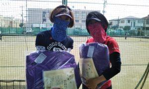 第1561回 関町ローンテニスクラブ 女子ダブルス優勝:北山・吉川ペア