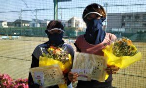 第1562回 関町ローンテニスクラブ 女子ダブルス準優勝:酒井・相馬ペア