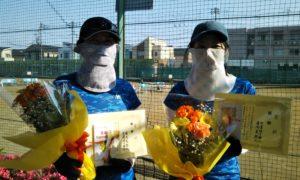 第1562回 関町ローンテニスクラブ 女子ダブルス優勝:湯浅・古澤ペア