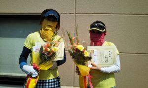 第1563回 緑ヶ丘テニスガーデン 女子ダブルス準優勝:加藤・阿部ペア