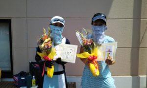 第1563回 緑ヶ丘テニスガーデン 女子ダブルス優勝:西村・原田ペア