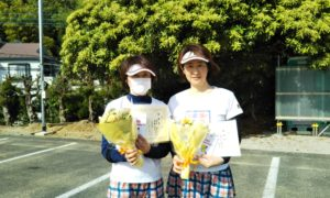 第1564回 百草テニスガーデン 女子ダブルス準優勝:田中・岩崎ペア