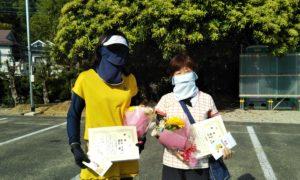 第1564回 百草テニスガーデン 女子ダブルス優勝:松本・藤田ペア