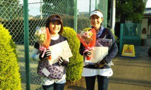 第1566回 緑ヶ丘テニスガーデン 女子ダブルス準優勝:金子・中村ペア