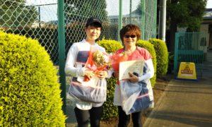 第1566回 緑ヶ丘テニスガーデン 女子ダブルス優勝:梅本・内田ペア