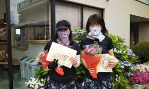第1572回 緑ヶ丘テニスガーデン 女子ダブルス優勝:中村・安岡ペア