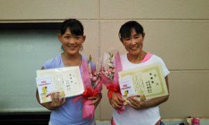 第1581回 緑ヶ丘テニスガーデン 女子ダブルス準優勝:田中・羽島ペア