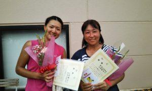 第1581回 緑ヶ丘テニスガーデン 女子ダブルス優勝:山崎・池谷ペア