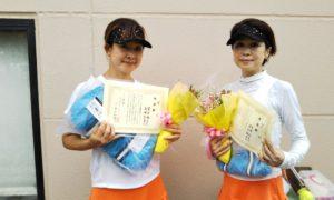 第1582回 緑ヶ丘テニスガーデン 女子ダブルス準優勝:澤井・高崎ペア