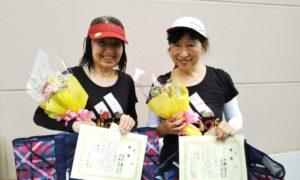第1582回 緑ヶ丘テニスガーデン 女子ダブルス優勝:成清・大熊ペア