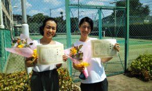 第1583回 緑ヶ丘テニスガーデン 女子ダブルス準優勝:川原・山﨑ペア