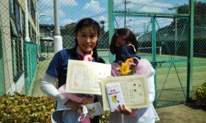 第1583回 緑ヶ丘テニスガーデン 女子ダブルス優勝:花田・垣屋ペア