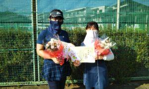 第1585回 関町ローンテニスクラブ 女子ダブルス準優勝:青木・池田ペア