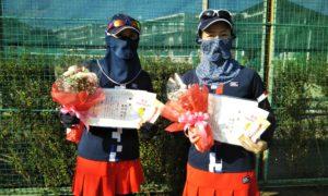 第1585回 関町ローンテニスクラブ 女子ダブルス優勝:柏村・廣中ペア
