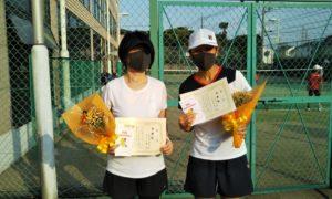 第1586回 緑ヶ丘テニスガーデン 女子ダブルス準優勝:宇津木・古山ペア
