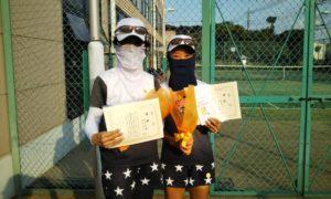 第1586回 緑ヶ丘テニスガーデン 女子ダブルス優勝:村田・高井ペア