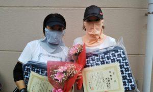 第1587回 緑ヶ丘テニスガーデン 女子ダブルス準優勝:原口・深瀬ペア