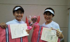 第1587回 緑ヶ丘テニスガーデン 女子ダブルス優勝:金子・金秋ペア
