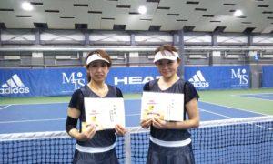 第250回 MTSテニスアリーナ三鷹 ナイター女子ダブルス準優勝:中田・花田ペア