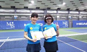 第250回 MTSテニスアリーナ三鷹 ナイター女子ダブルス優勝:橘・小見野ペア